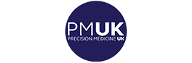 Precision Medicine UK Logo - White